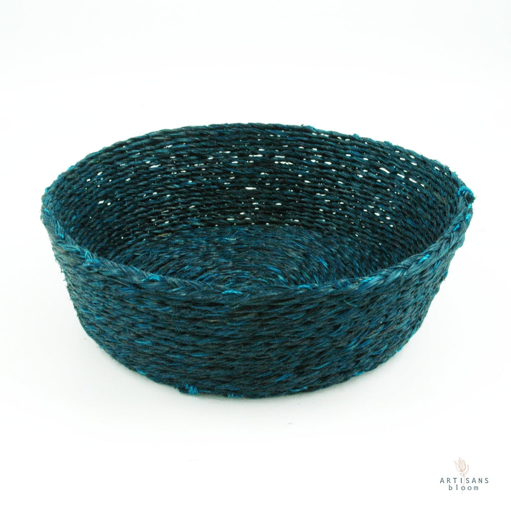 Teal Basket - 18cm - Artisans Bloom