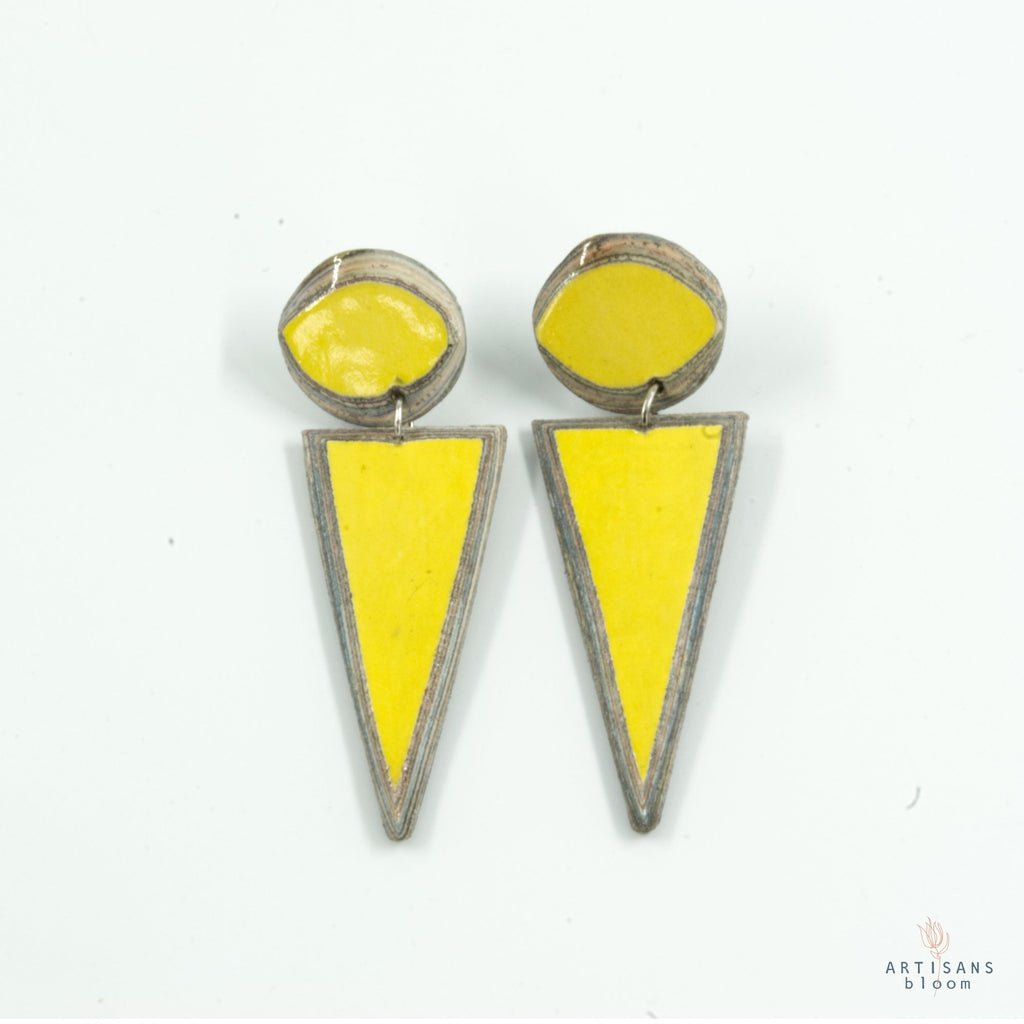 Tehuti Stud - Yellow - Artisans Bloom
