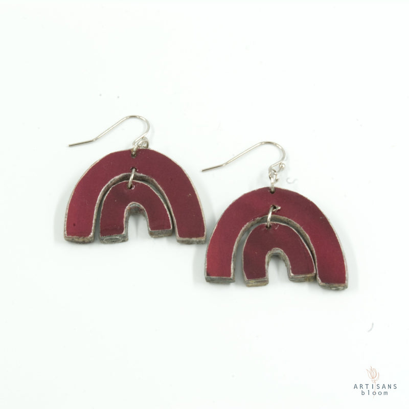 Tengetile Earring - Burgandy - Artisans Bloom