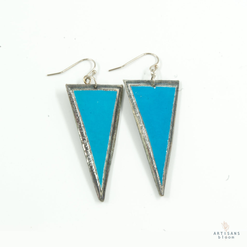 Triangle Earring - Capri Blue - Artisans Bloom