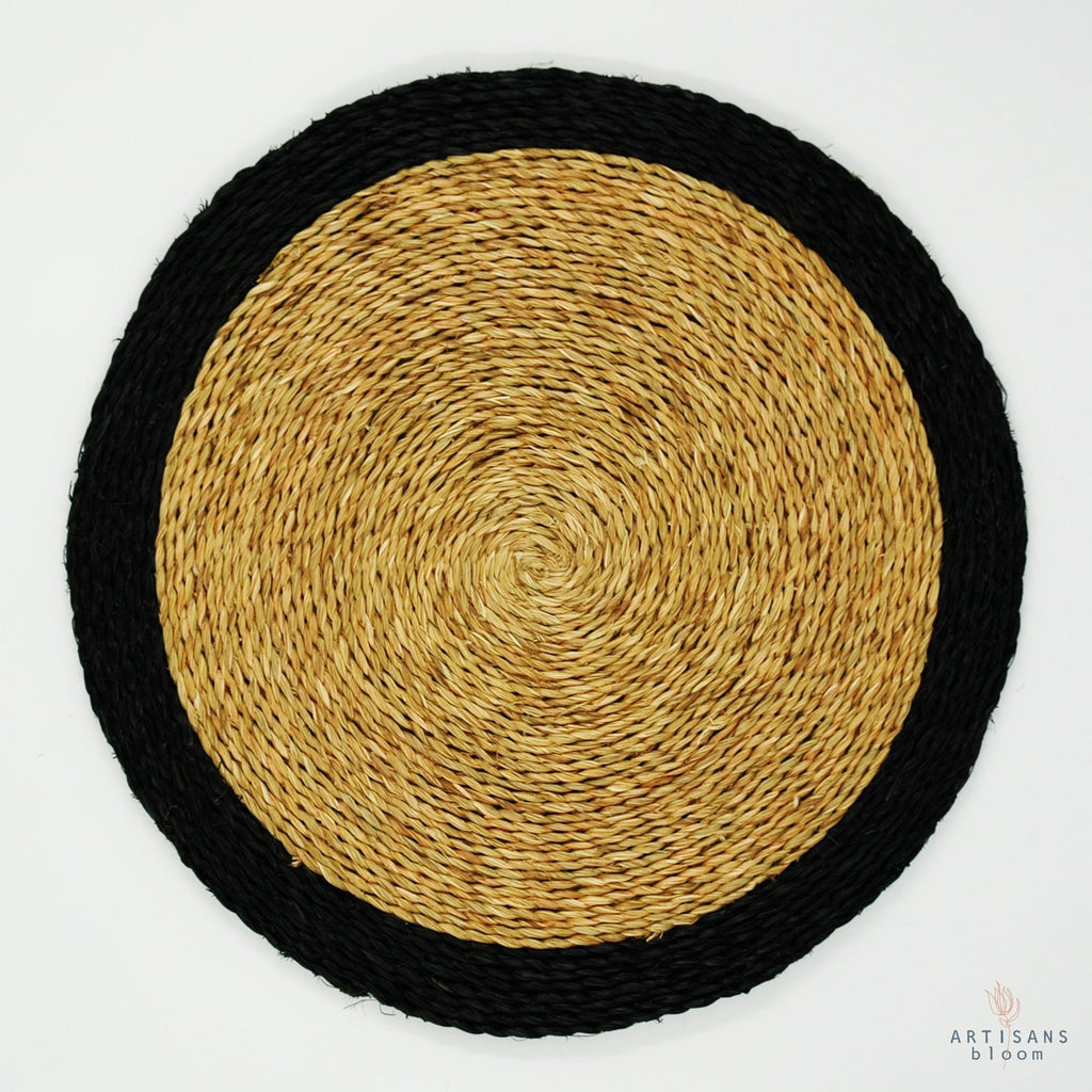 Trim Placemat - Black - Artisans Bloom