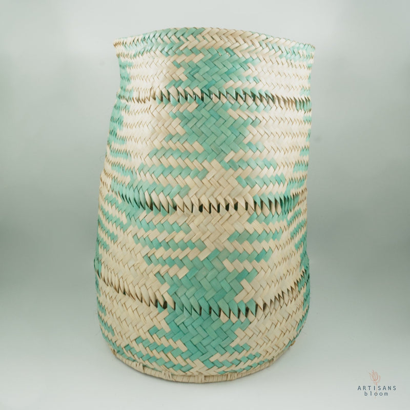 Turquoise AmaNiceNice Basket - Medium - Artisans Bloom