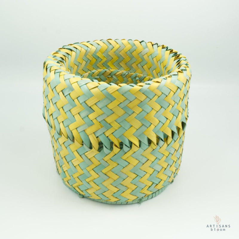 Turquoise and Gold AmaNiceNice Basket - Mini - Artisans Bloom
