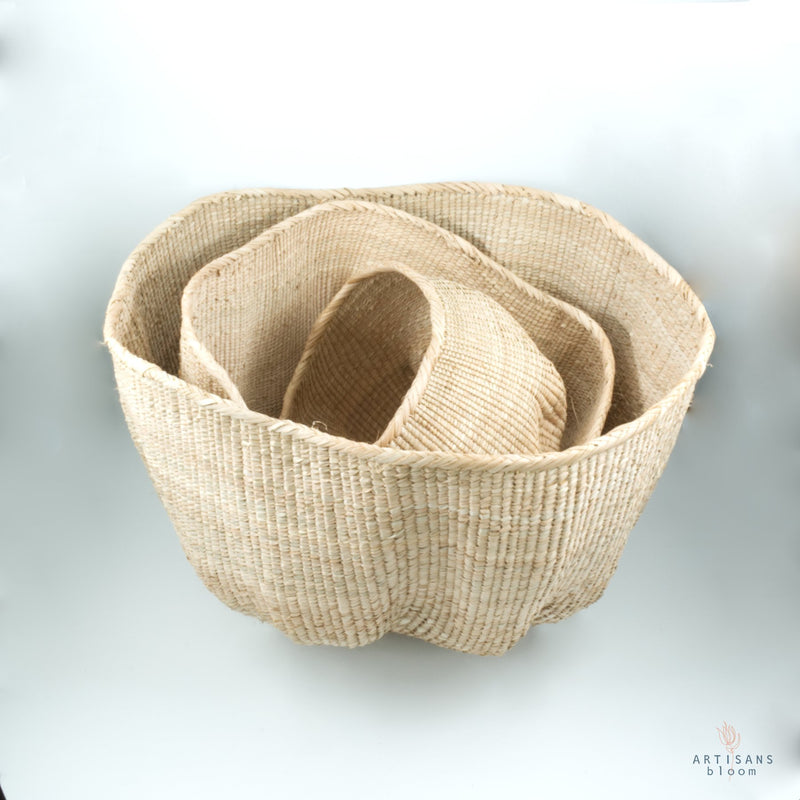 Wonky Basket Natural - Artisans Bloom