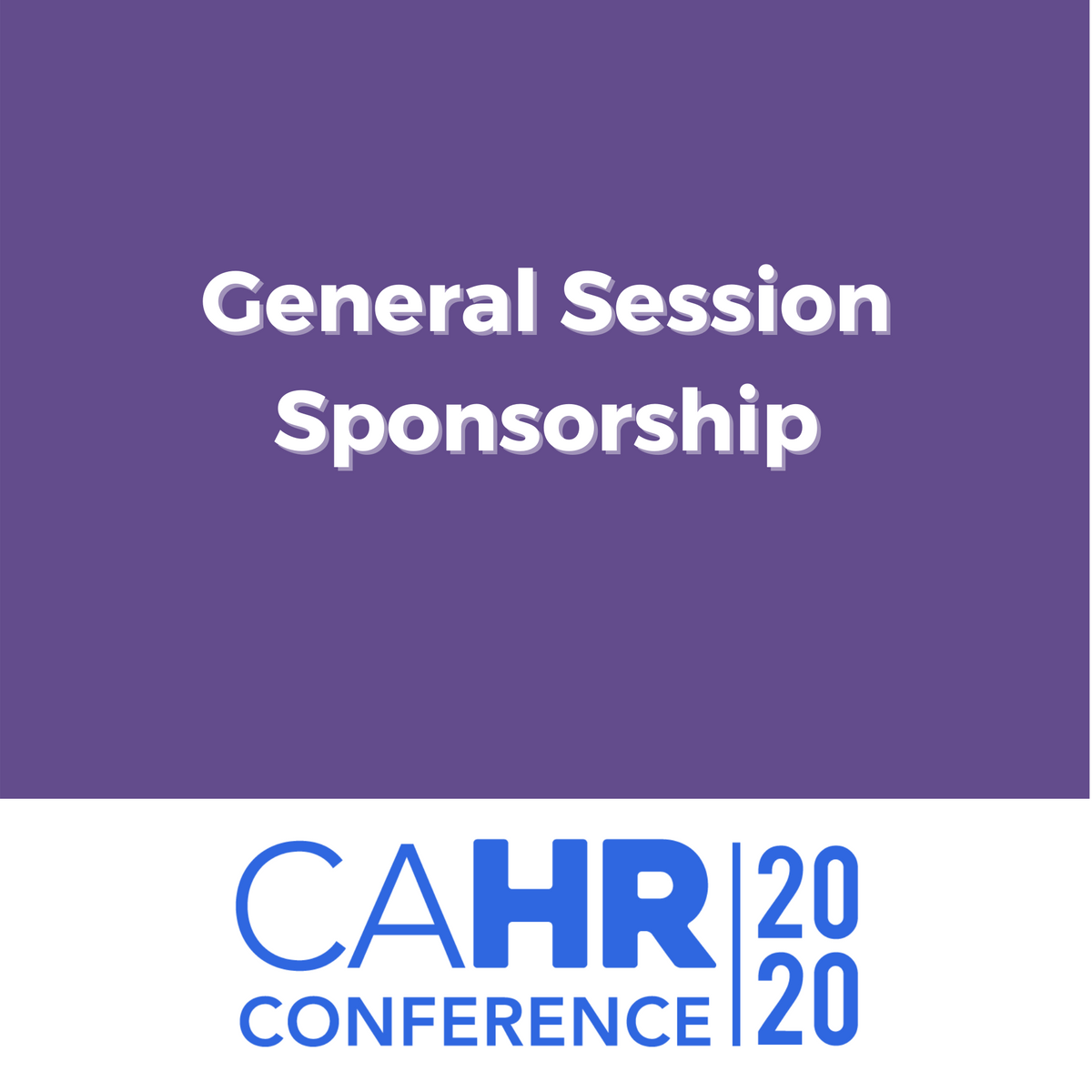 General Session Sponsorship