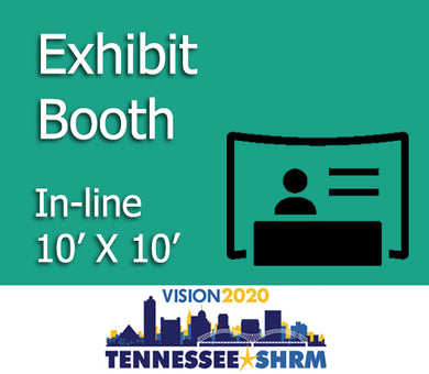 10' x 10' In-Line Exhibitor Booth