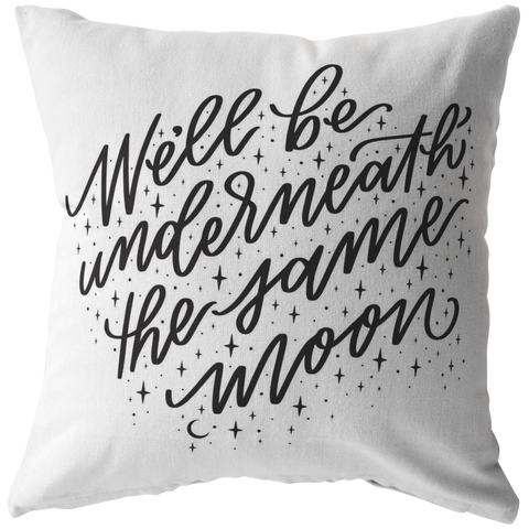Same Moon Pillow (& Pillow Cover) White
