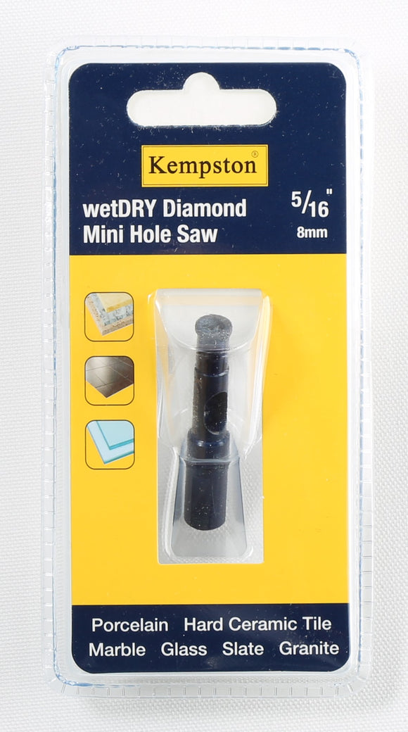88026  Wetdry Diamond Mini Hole Saw 5/16