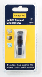 88028  Wetdry Diamond Mini Hole Saw 1/2""