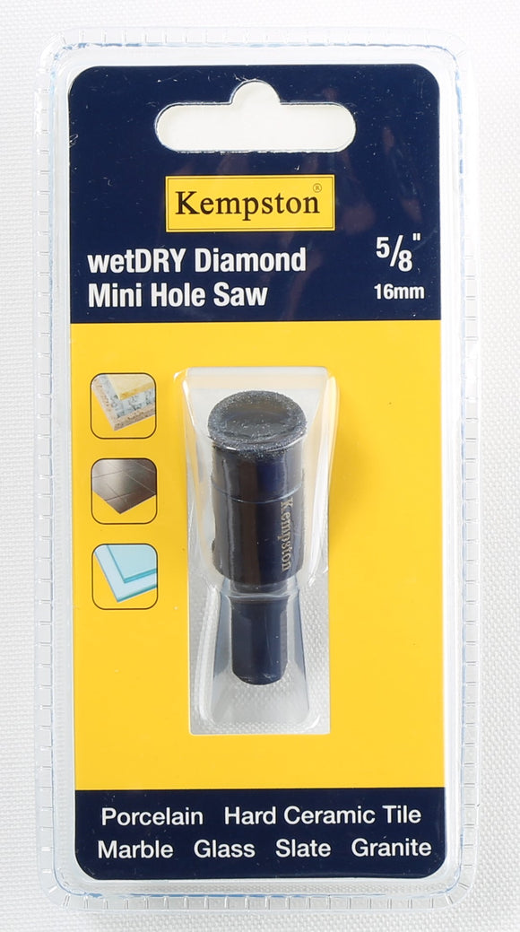 88029  Wetdry Diamond Mini Hole Saw 5/8