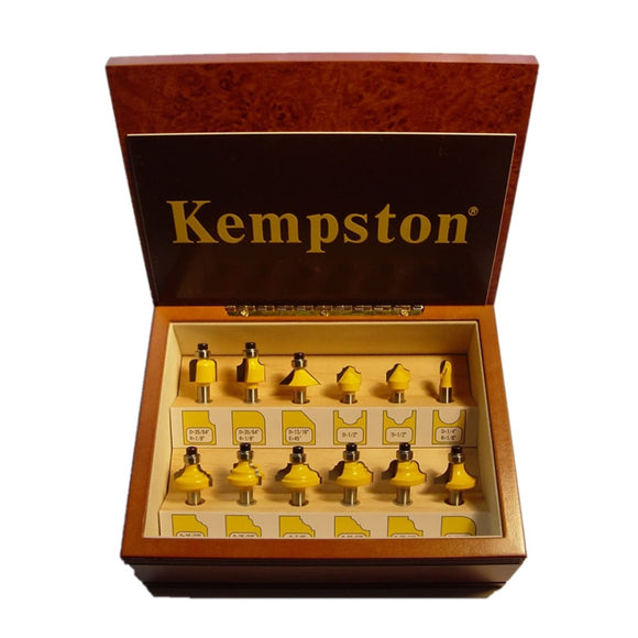 KC3122  12-Piece Miniature Router Bit Set 1/4