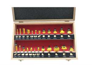 "KC3242 (KC3240)  24-Piece Router Bit Set 1/4"" Shank"