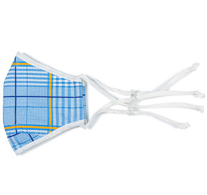 Classic Blue Plaid Mask