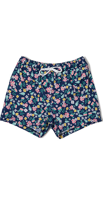 Moonlight Garden Print Boys Swim Short