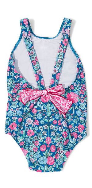 Garden Floral Bow One Piece