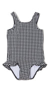 Classic Black Gingham One Piece