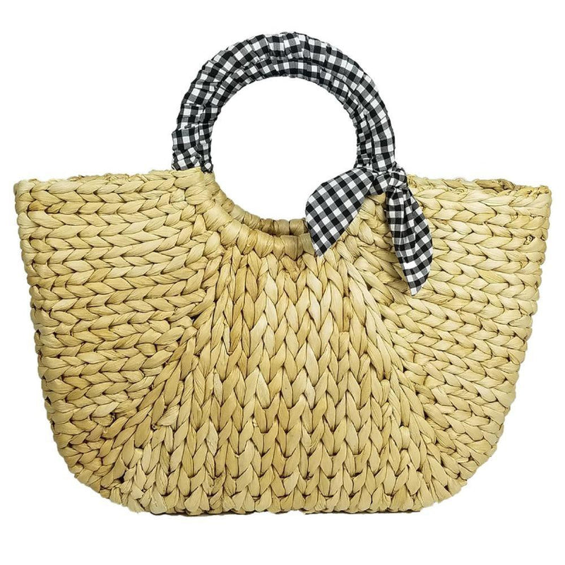 Cayman Tote with Gingham Trim