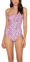 Carousel Floral Cinched One Piece