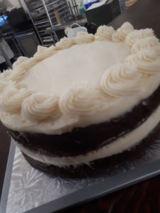 Vanilla Cake with Real Buttercream Frosting