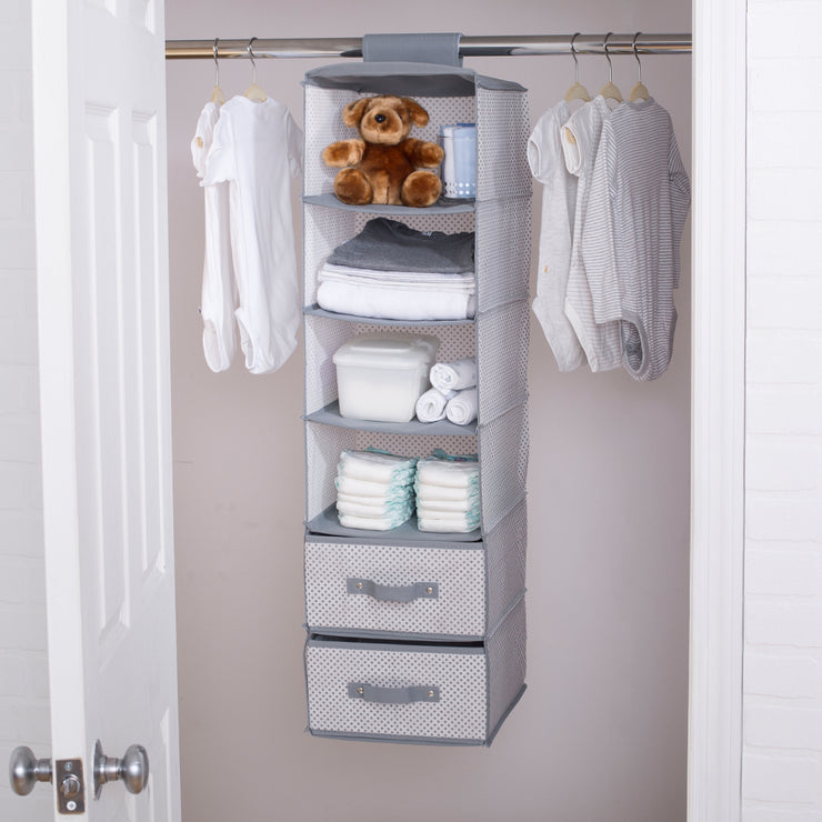 6 Shelf Storage With 2 Drawers