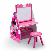 Minnie Mouse Activity Centre - Easel Desk with Stool & Toy Organiser
