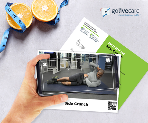 golivecard AR video exercise card