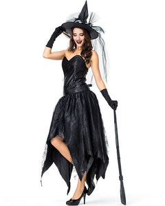 Adult Womens Sassy Spider Web Dark Witchy Witch Halloween Costume