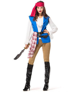 Adult Womens Pirate Halloween Dress Up Costume