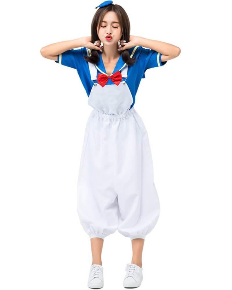 Cute Comic Storybook Sailor Ducky Adult Womens Costume