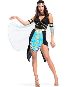 Adult Cleopatra Egyptian Goddess Halloween Costume Black