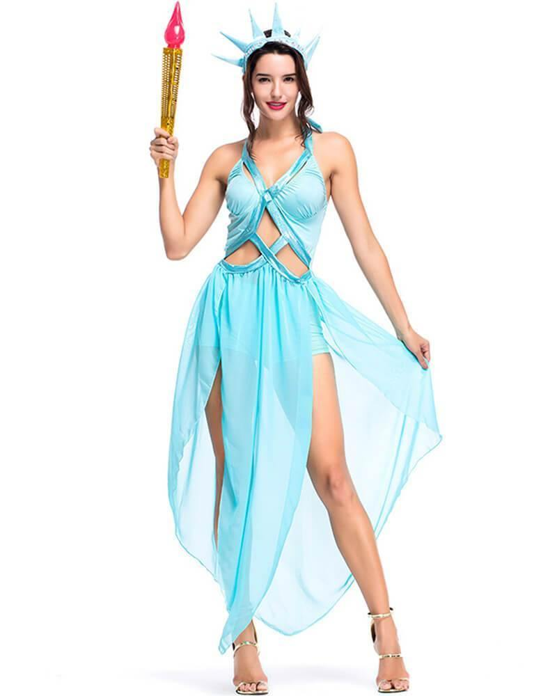 Adult Sexy Statue Of Liberty Halloween Costume