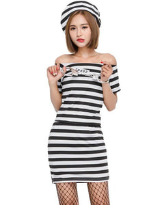 Adult Lady Lawless Prisoner Womens Dress Costume