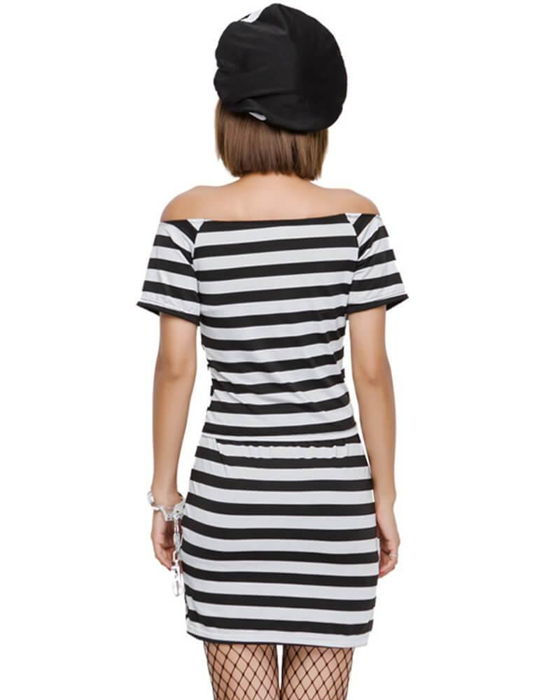 Adult Lady Lawless Prisoner Womens Dress Costume - pinkfad