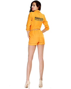 Adult Stateimate Orange Prisoner Womens Playsuit Costume