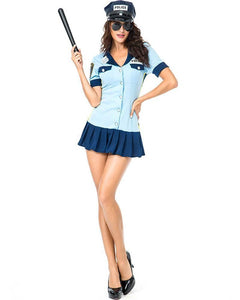 Adult Sassy Guilty Prison Guard Police Womens Dress Costume