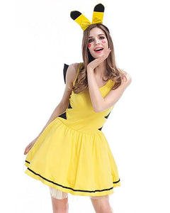 Cute Pikachu Dress Pokemon Adult Womens Costume