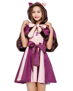 Cute Cheshire Cat Dress In Alice In Wonderland Fairytale Costume