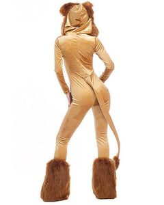 The Wizard Of Oz Adult Cowardly Lion Womens Halloween Costume