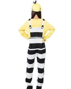Cute Minion Prisoner Jumpsuit Fancy Halloween Costume