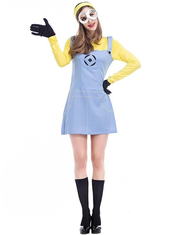 Minion Halloween Costumes For Girls.Cute Adult Minion Womens Halloween Costume
