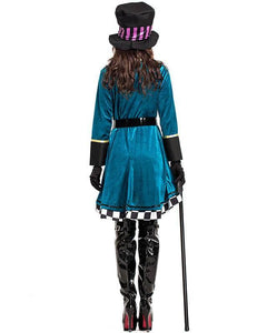 Deluxe Mad Hatter Alice In Wonderland Adult Womens Fairytale Costume