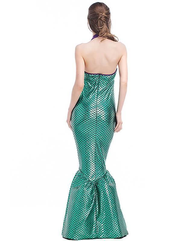 Ariel The Little Mermaid Maxi Gown Costume - pinkfad