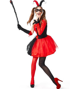 Harley Quinn In Batman Womens Girls Halloween Costume