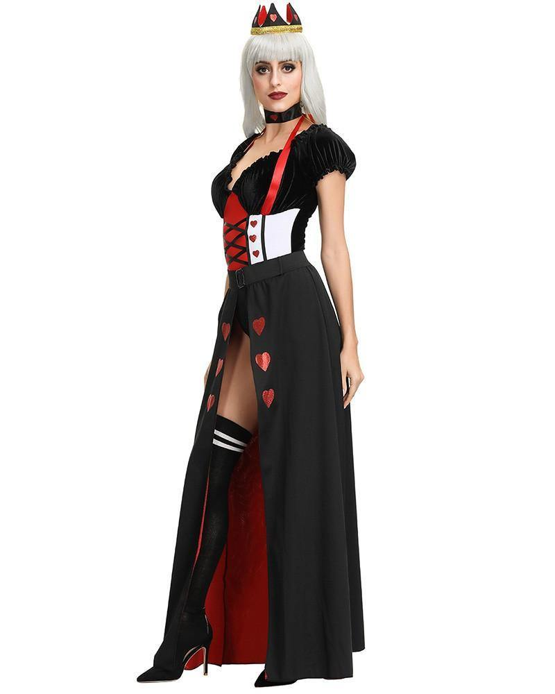 Adult The Queen Of Hearts Womens Halloween Costume - pinkfad