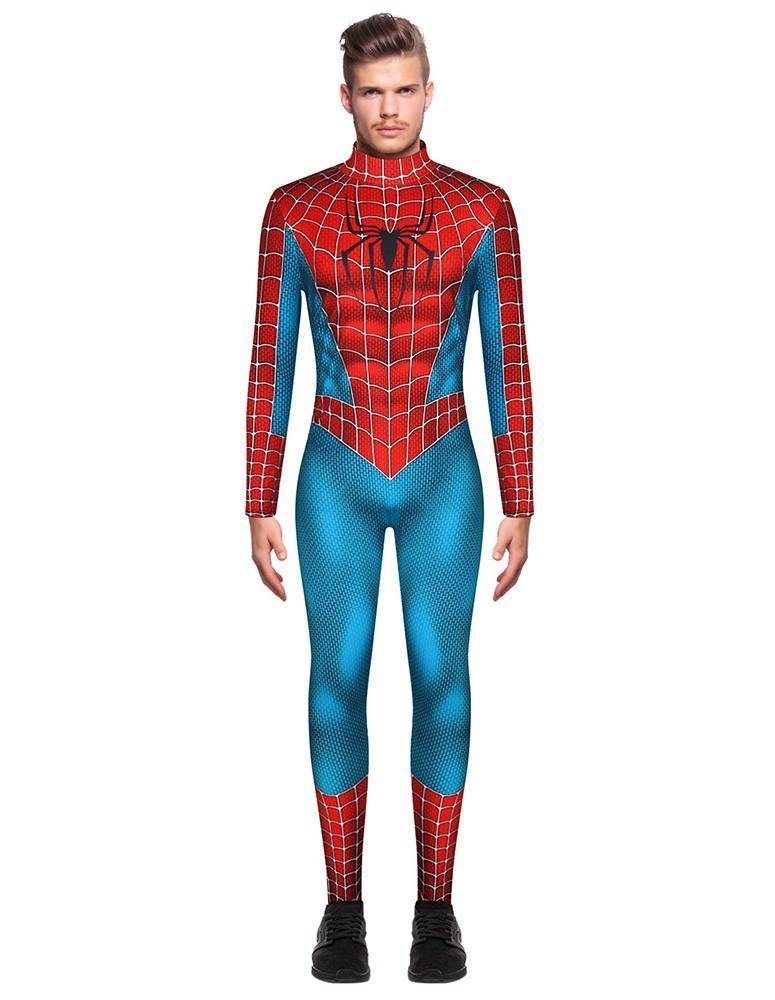 Spider Man Cosplay Spider-Man 3 Costume Mens Jumpsuit Costume