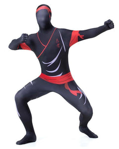 Adult Mens Ninja super elastic Zentai Full Bodysuit Costume