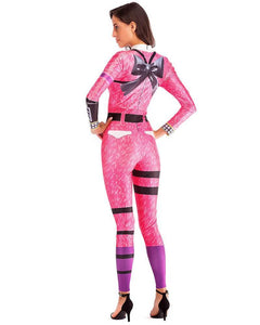 Fortnite Cuddle Team Leader Catsuit Womens Halloween Game Costume