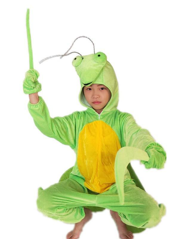 Girls Boys Mantis Flannel Cosplay Onesie Kids Halloween Costume