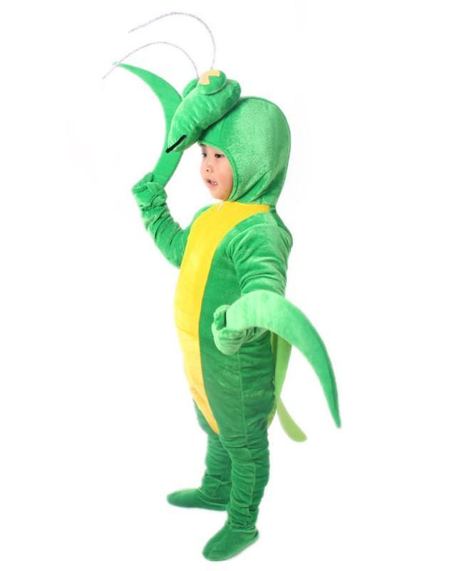 Mantis Pleuche Kids Halloween School Play Jumpsuit Cosplay Costume