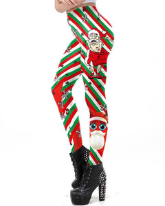 Funny Design Cool Santa Claus Missed Cloth Printed Leggings
